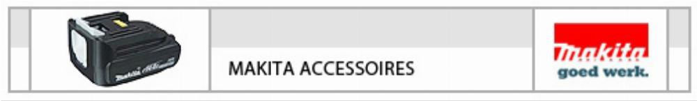 makita accessoires elektrisch handgereedschap